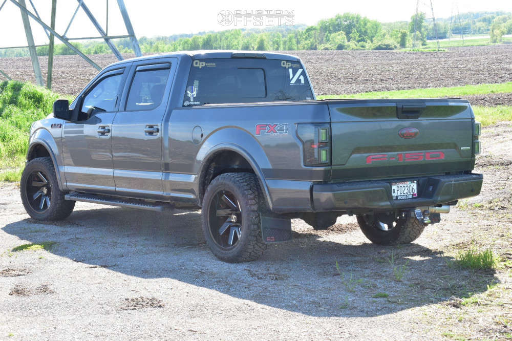 """2019 Ford F-150 Aggressive > 1"""" outside fender on 20x10 -25 offset ARKON OFF-ROAD Lincoln & 285/50 Nitto Ridge Grappler on Stock Suspension - Custom Offsets Gallery"""