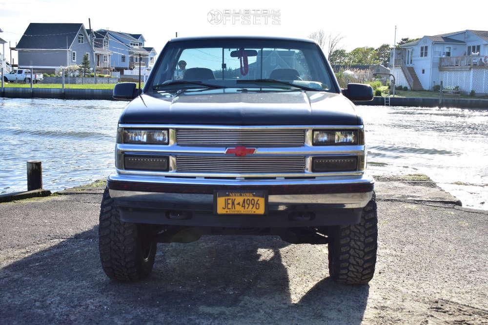 "1997 Chevrolet K1500 Slightly Aggressive on 17x9 0 offset RBP 94r & 35""x12.5"" Antares Deep Digger on Suspension Lift 6"" - Custom Offsets Gallery"