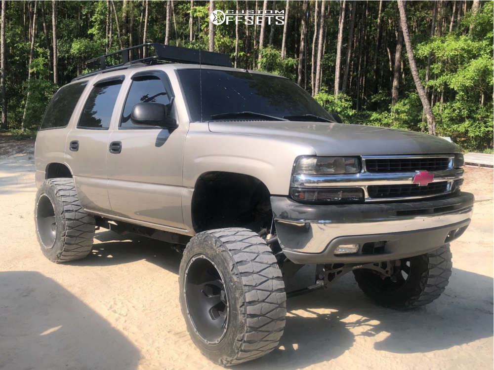 """2002 Chevrolet Tahoe Super Aggressive 3""""-5"""" on 22x14 -76 offset Xd Armour & 37""""x13.5"""" Nitto Mud Grappler on Suspension Lift 6"""" & Body 3"""" - Custom Offsets Gallery"""
