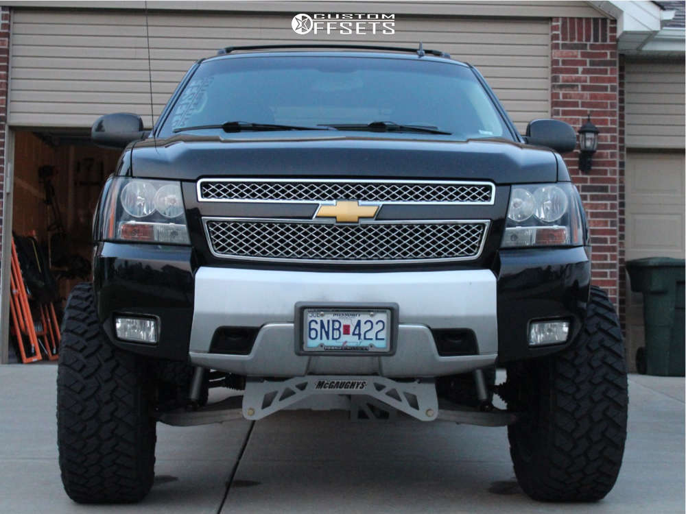 """2012 Chevrolet Avalanche Super Aggressive 3""""-5"""" on 22x12 -51 offset Vision Rocker & 37""""x13.5"""" Nitto Trail Grappler on Suspension Lift 9"""" - Custom Offsets Gallery"""