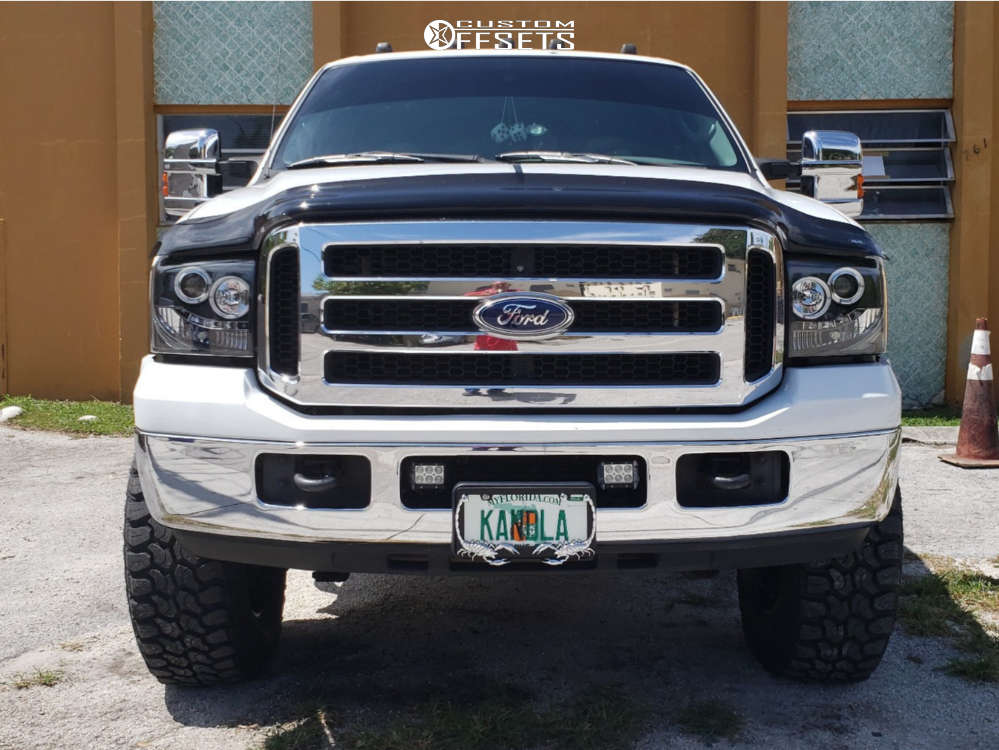 """2004 Ford E-250 Super Duty Aggressive > 1"""" outside fender on 18x10 -12 offset RBP 94r and 35""""x12.5"""" Delinte Dx-9 Bandit Mt on Suspension Lift 7"""" - Custom Offsets Gallery"""