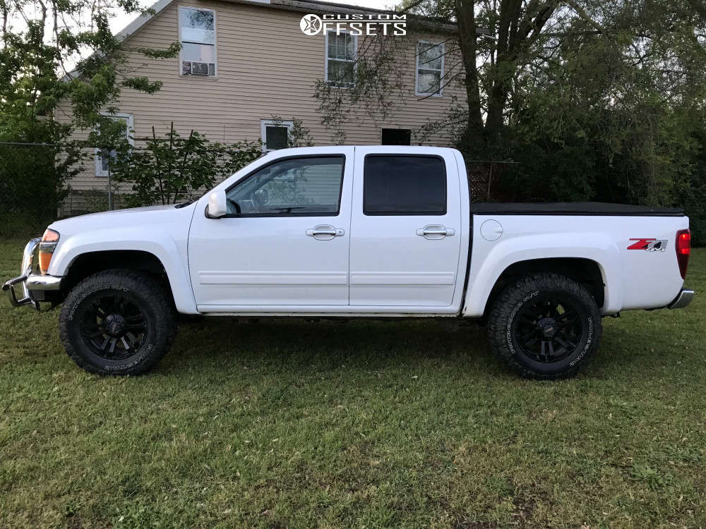 """2010 Chevrolet Colorado Aggressive > 1"""" outside fender on 18x9 18 offset MB Tko & 305/60 Milestar Patagonia Mt on Suspension Lift 2.5"""" - Custom Offsets Gallery"""