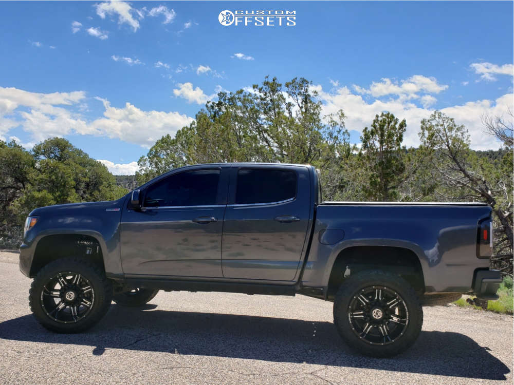 """2016 Chevrolet Colorado Super Aggressive 3""""-5"""" on 20x12 -44 offset Anthem Off-Road Equalizer & 33""""x12.5"""" Toyo Tires Open Country M/T on Suspension Lift 5.5"""" - Custom Offsets Gallery"""