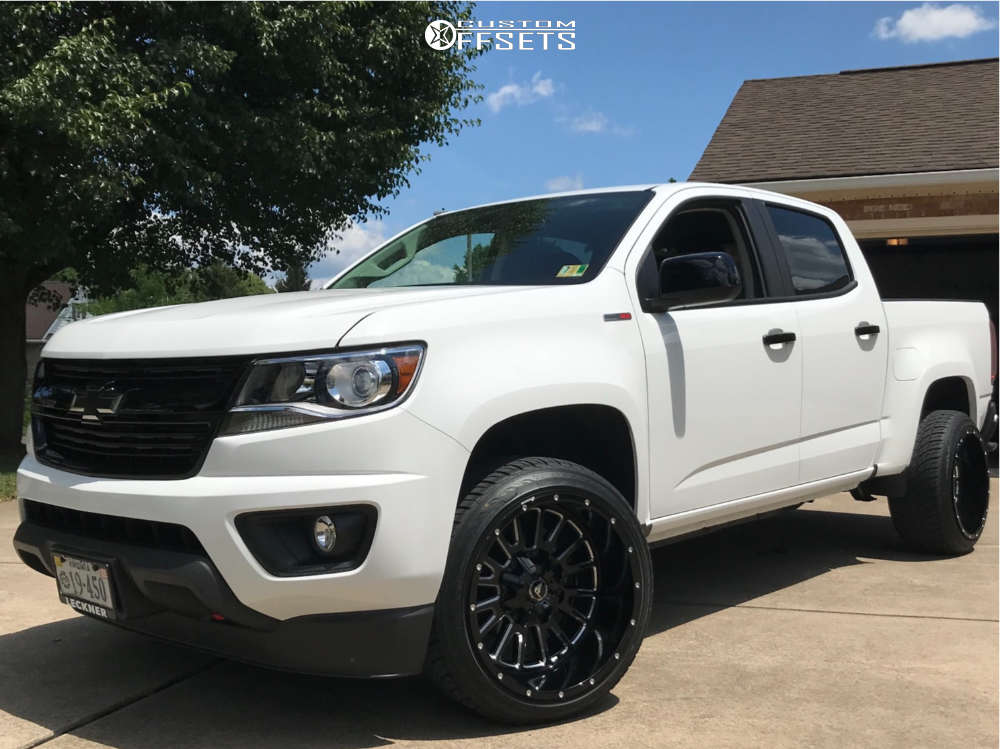 """2018 Chevrolet Colorado Super Aggressive 3""""-5"""" on 20x12 -44 offset American Offroad A105 & 275/40 Atturo Az800 on Stock Suspension - Custom Offsets Gallery"""