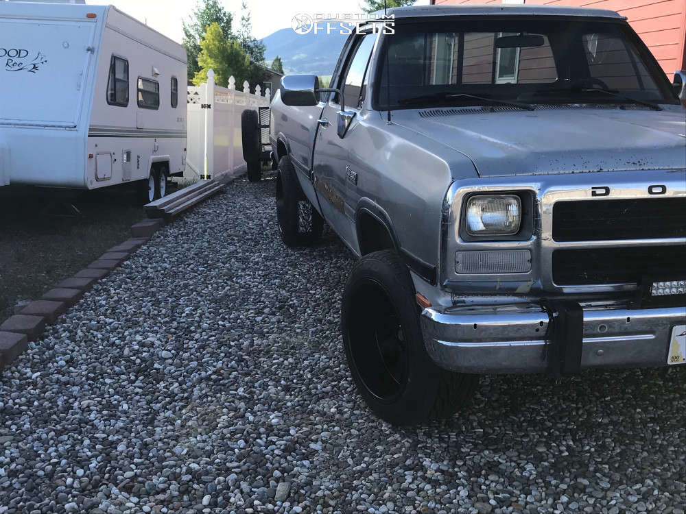 1992 Dodge D250 Slightly Aggressive on 20x12 -51 offset Toxic Widow & 295/45 Toyo Tires Proxes St Iii on Leveling Kit - Custom Offsets Gallery