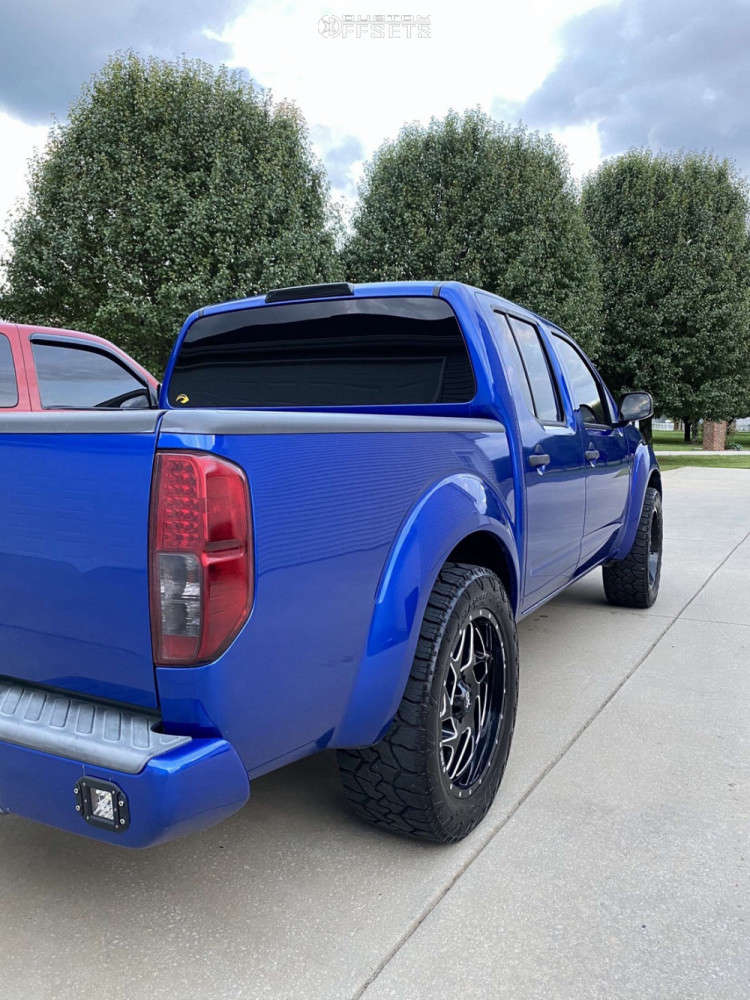 """2012 Nissan Frontier Aggressive > 1"""" outside fender on 20x9 0 offset XD Xd836 & 275/55 Nitto Exo Grappler on Stock Suspension - Custom Offsets Gallery"""