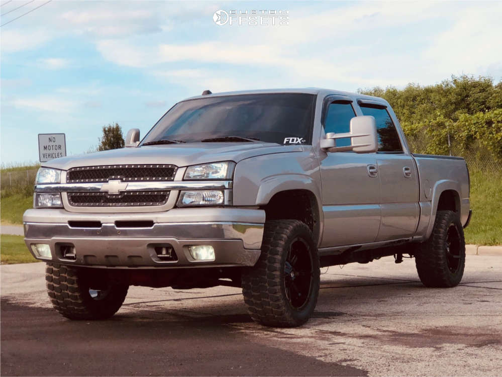 """2004 Chevrolet Silverado 1500 Aggressive > 1"""" outside fender on 20x10 -24 offset Fuel Coupler & 33""""x12.5"""" Ironman All Country Mt on Body Lift 3"""" - Custom Offsets Gallery"""