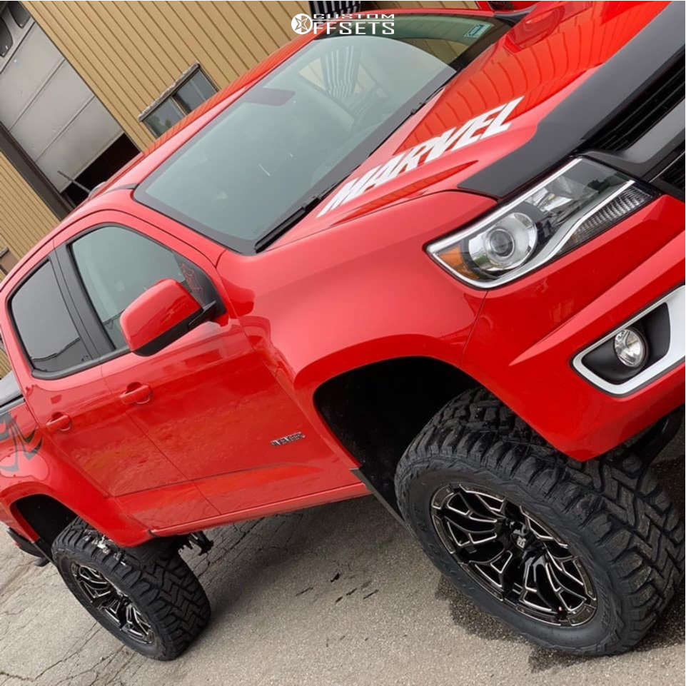 """2018 Chevrolet Colorado Slightly Aggressive on 20x9 0 offset Xd XD841 & 295/55 Toyo Tires Open Country R/T on Suspension Lift 5.5"""" - Custom Offsets Gallery"""