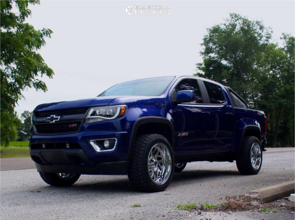 "2016 Chevrolet Colorado Super Aggressive 3""-5"" on 20x10 -18 offset Fuel Triton & 265/50 Nitto Terra Grappler G2 on Suspension Lift 2.5"" - Custom Offsets Gallery"