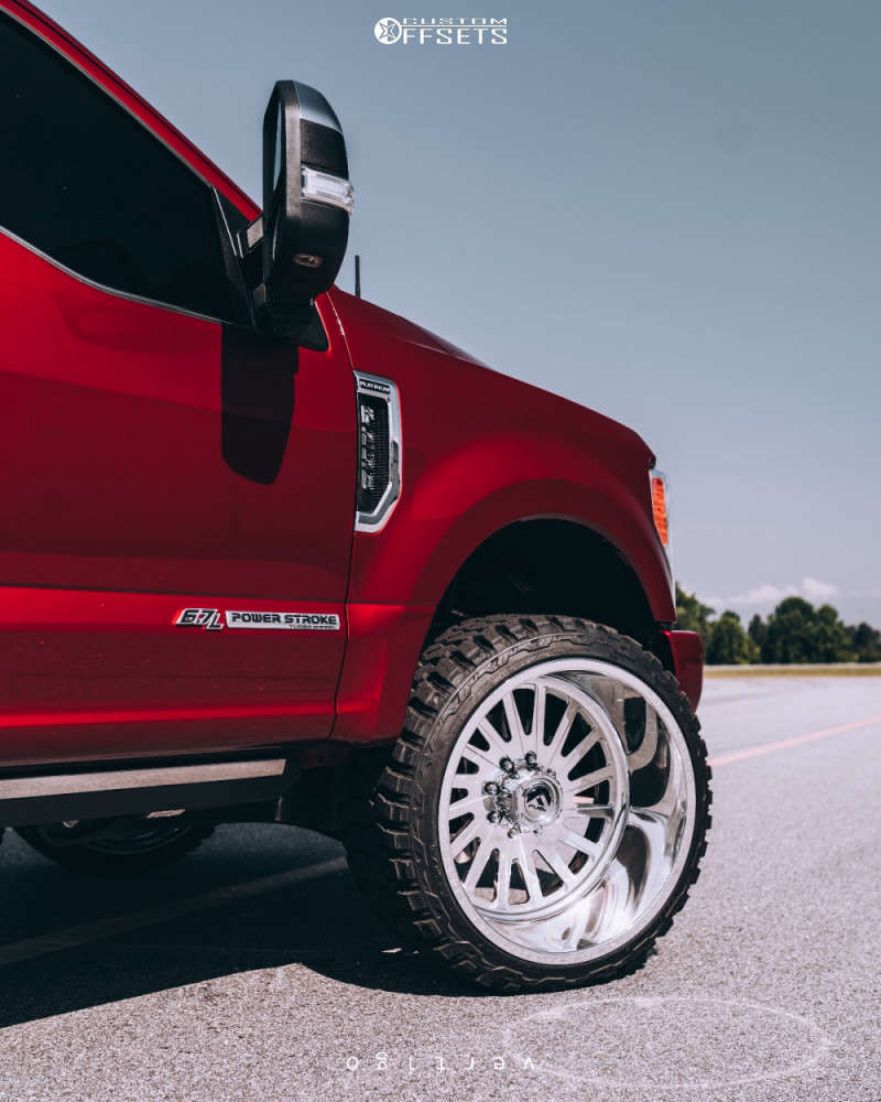 """2019 Ford F-250 Super Duty Super Aggressive 3""""-5"""" on 24x14 -76 offset Fuel Forged Ff16 and 33""""x14.5"""" Fury Offroad Country Hunter Mt on Level 2"""" Drop Rear - Custom Offsets Gallery"""