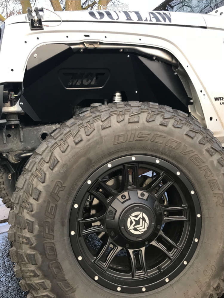 "2011 Jeep Wrangler Hella Stance >5"" on 17x9 0 offset Anthem Off-Road Instigator & 35""x12.5"" Cooper Discoverer Stt Pro on Suspension Lift 4"" - Custom Offsets Gallery"
