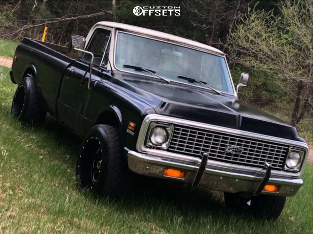 """1972 Chevrolet K10 Pickup Super Aggressive 3""""-5"""" on 20x12 -44 offset Moto Metal Mo972 & 305/50 Nitto Nt420s on Stock Suspension - Custom Offsets Gallery"""
