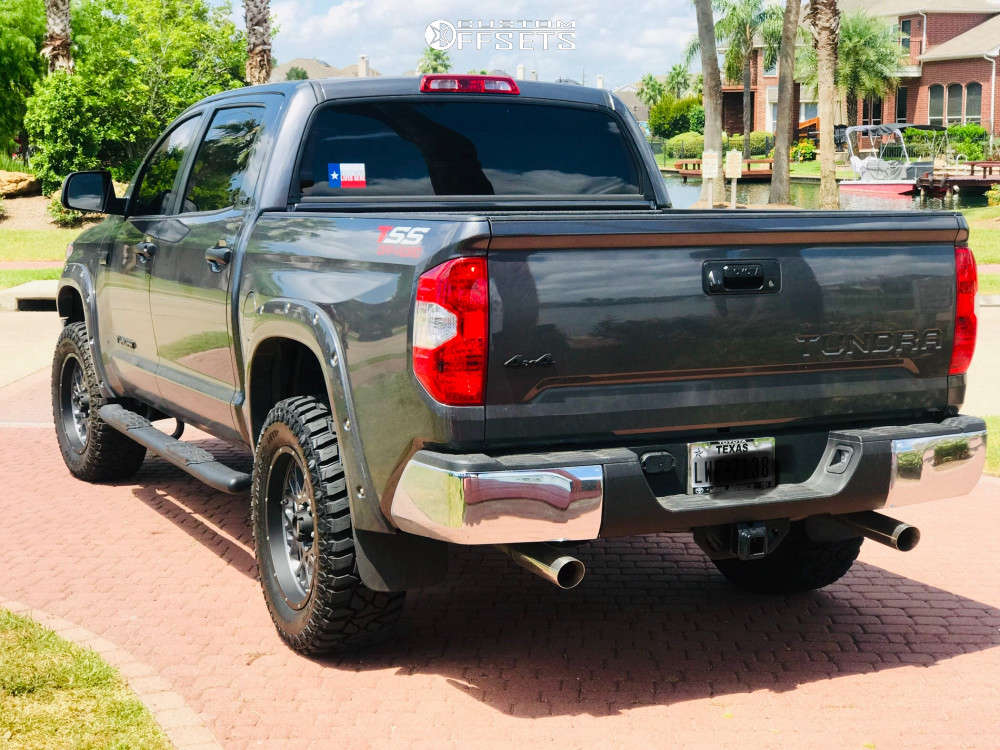"""2019 Toyota Tundra Nearly Flush on 20x9 12 offset Vision Rocker and 35""""x12.5"""" Cooper Discoverer Mtp on Leveling Kit - Custom Offsets Gallery"""