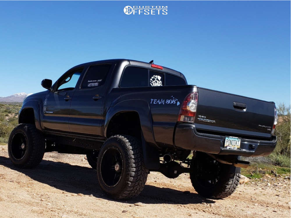 """2012 Toyota Tacoma Super Aggressive 3""""-5"""" on 20x12 -44 offset Anthem Off-Road Equalizer & 35""""x12.5"""" Road One Cavalry M/t on Suspension Lift 6"""" - Custom Offsets Gallery"""
