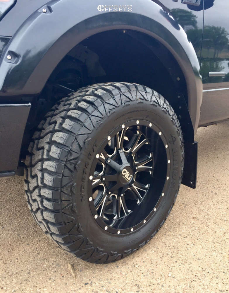 """2013 Ford F-150 Aggressive > 1"""" outside fender on 20x10 -25 offset Cali Offroad Americana and 33""""x12.5"""" Haida Hd878 R/t on Suspension Lift 3"""" - Custom Offsets Gallery"""