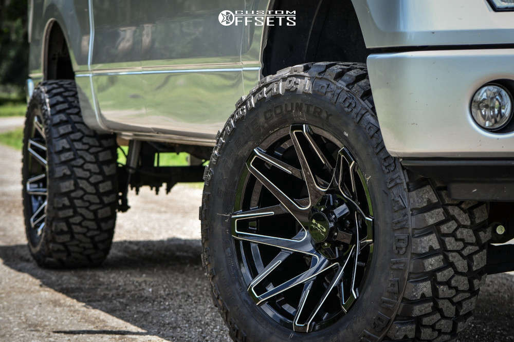 """2013 Ford F-150 Super Aggressive 3""""-5"""" on 20x10 -25 offset Hd Offroad Canyon and 35""""x12.5"""" Dick Cepek Extreme Country on Suspension Lift 6"""" - Custom Offsets Gallery"""