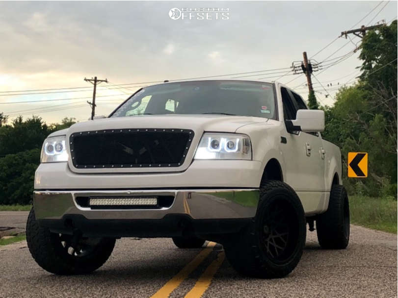 "2007 Ford F-150 Super Aggressive 3""-5"" on 20x12 -51 offset Toxic Punisher and 305/55 AMP Terrain Attack At A on Leveling Kit - Custom Offsets Gallery"