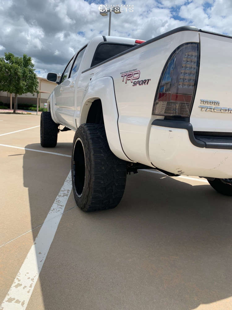 """2009 Toyota Tacoma Super Aggressive 3""""-5"""" on 20x12 -44 offset Hardrock Gunner H705 & 33""""x12.5"""" Toyo Tires Open Country R/T on Suspension Lift 7.5"""" - Custom Offsets Gallery"""