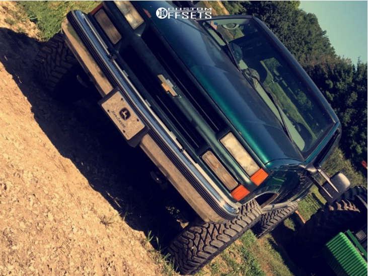 "1997 Chevrolet K1500 Super Aggressive 3""-5"" on 20x12 -44 offset TIS 544bm & 33""x12.5"" Atturo Trail Blade Mt on Stock Suspension - Custom Offsets Gallery"