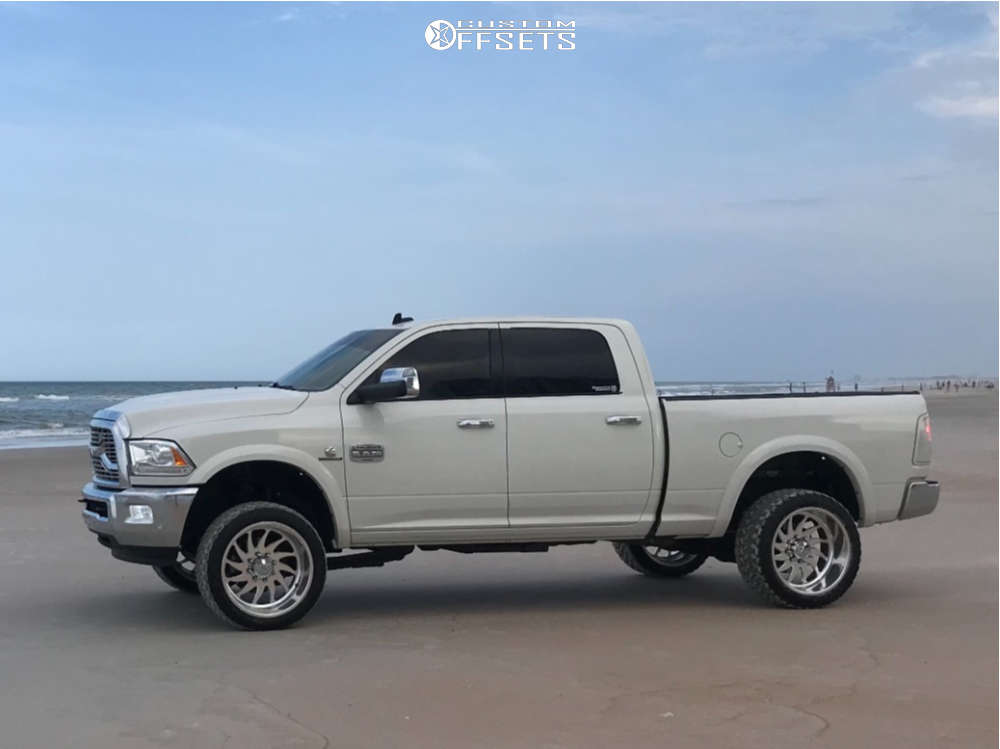 """2016 Ram 3500 Super Aggressive 3""""-5"""" on 22x12 -40 offset American Force Spirit Ss & 33""""x12.5"""" Ginell Gn3000 on Leveling Kit - Custom Offsets Gallery"""