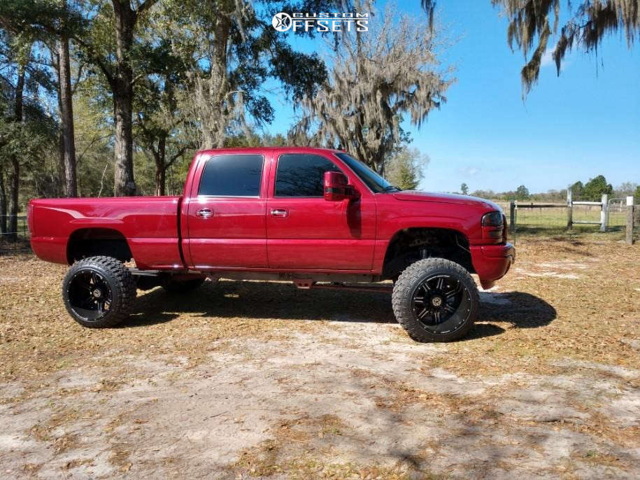 """2006 GMC Sierra 2500 HD Classic Super Aggressive 3""""-5"""" on 22x14 -76 offset Anthem Off-Road Equalizer & 35""""x12.5"""" Fury Offroad Country Hunter Mt on Suspension Lift 6"""" - Custom Offsets Gallery"""