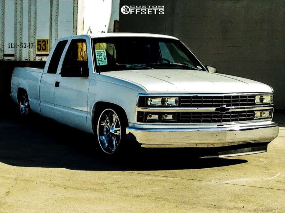 1992 Chevrolet C1500 Tucked on 20x8.5 10 offset Boss 312 & 245/45 Venezia Crusade Hp on Lowered 4F / 6R - Custom Offsets Gallery