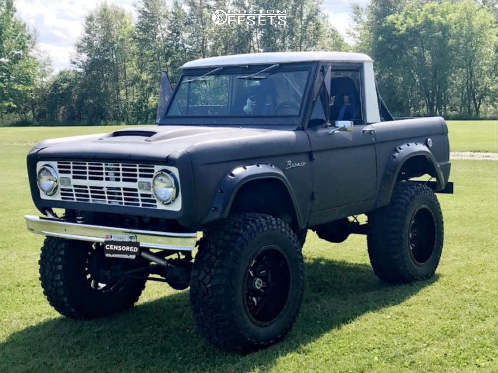 """1967 Ford Bronco Super Aggressive 3""""-5"""" on 20x12 -44 offset Fuel Sledge & 38""""x13.5"""" Cooper Discoverer Stt Pro on Suspension Lift 7"""" & Body 3"""" - Custom Offsets Gallery"""