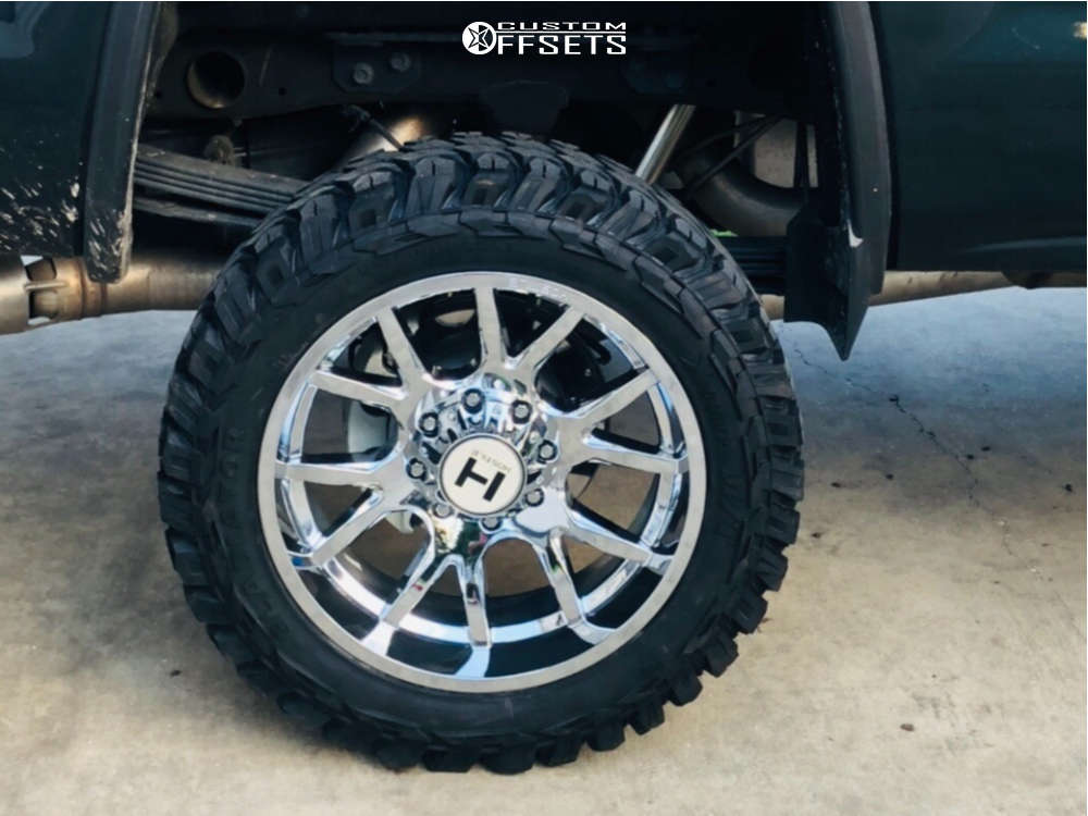 """2018 GMC Sierra 2500 HD Aggressive > 1"""" outside fender on 22x12 -44 offset Hostile Rage and 35""""x12.5"""" Gladiator Xcomp Mt on Suspension Lift 6"""" - Custom Offsets Gallery"""