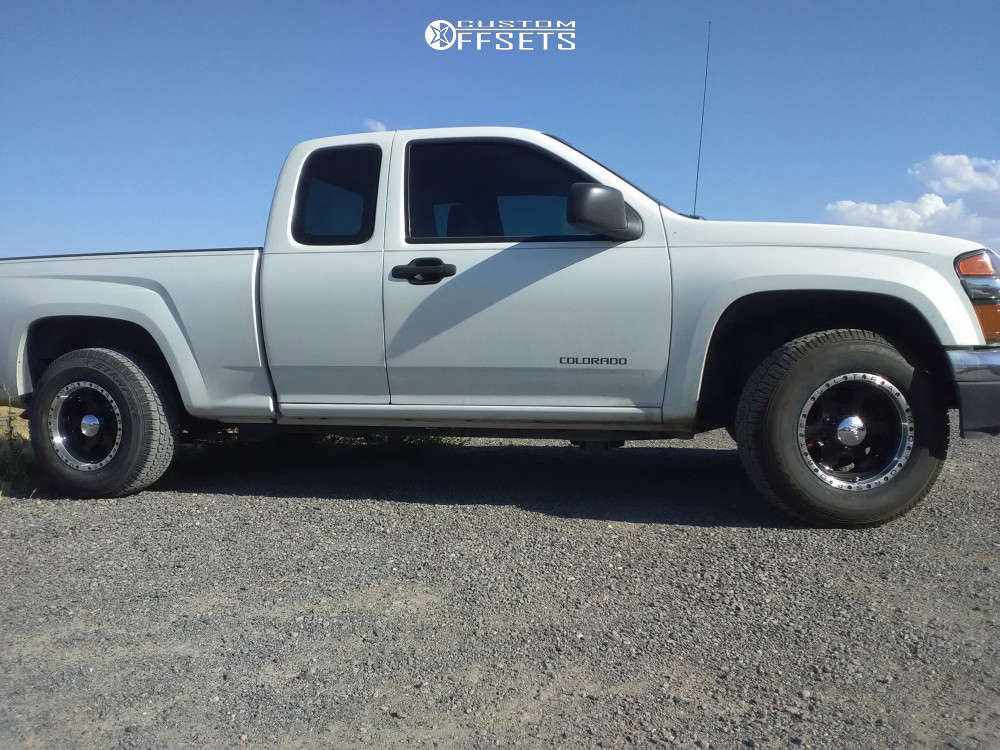 """2005 Chevrolet Colorado Aggressive > 1"""" outside fender on 15x8 -19 offset Ultra Rogue 175 & 29""""x9.5"""" Starfire Sf510 on Stock Suspension - Custom Offsets Gallery"""