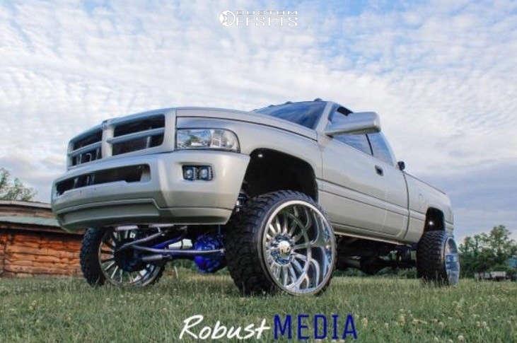 "2002 Dodge Ram 2500 Super Aggressive 3""-5"" on 24x14 -81 offset Cali Offroad Summit & 33""x12.5"" Rbp Repulsor Mt on Suspension Lift 3"" - Custom Offsets Gallery"