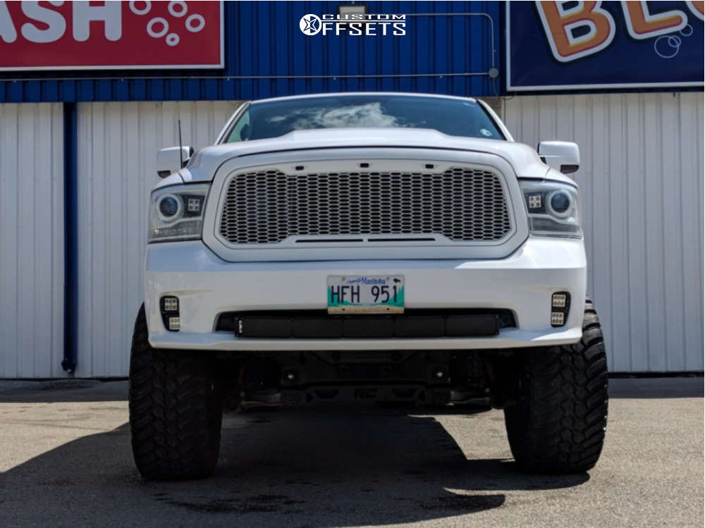 """2015 Ram 1500 Super Aggressive 3""""-5"""" on 20x12 -44 offset Fuel Sledge & 37""""x13.5"""" AMP Mud Terrain Attack Mt A on Suspension Lift 10"""" - Custom Offsets Gallery"""