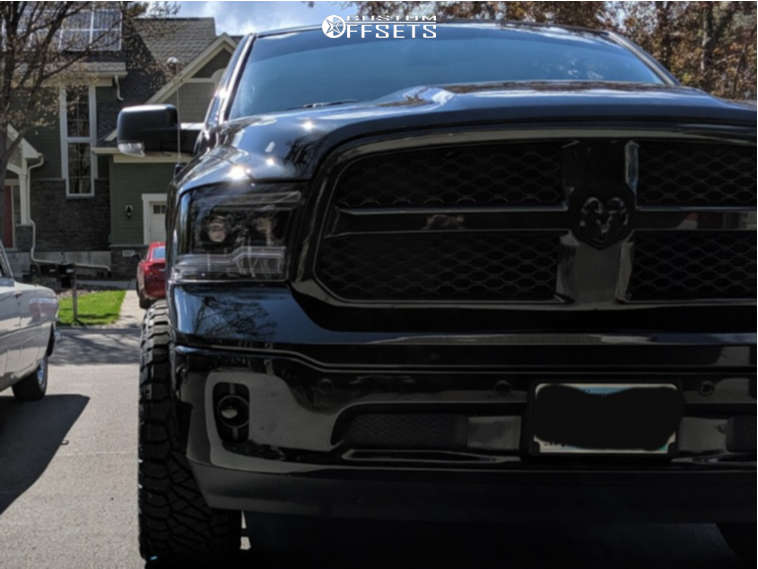 """2018 Ram 1500 Aggressive > 1"""" outside fender on 20x10 -25 offset ARKON OFF-ROAD Lincoln and 275/60 Nitto Ridge Grappler on Leveling Kit - Custom Offsets Gallery"""