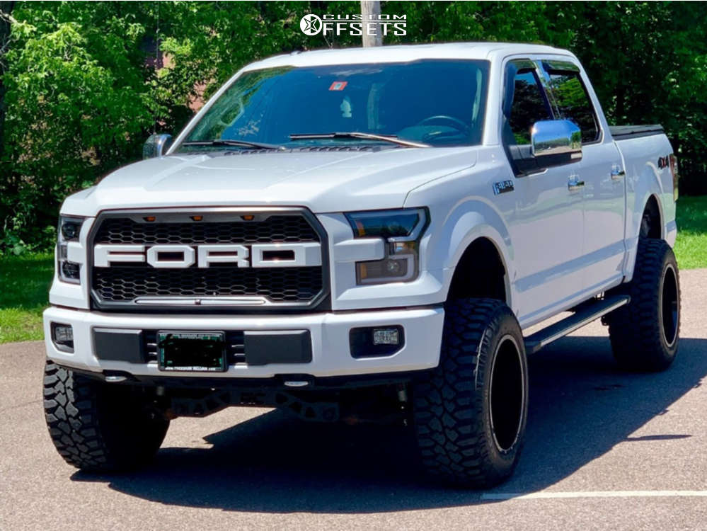 "2015 Ford F-150 Aggressive > 1"" outside fender on 20x12 -44 offset Anthem Off-Road Equalizer and 35""x12.5"" Mickey Thompson Deegan 38 on Suspension Lift 6"" - Custom Offsets Gallery"