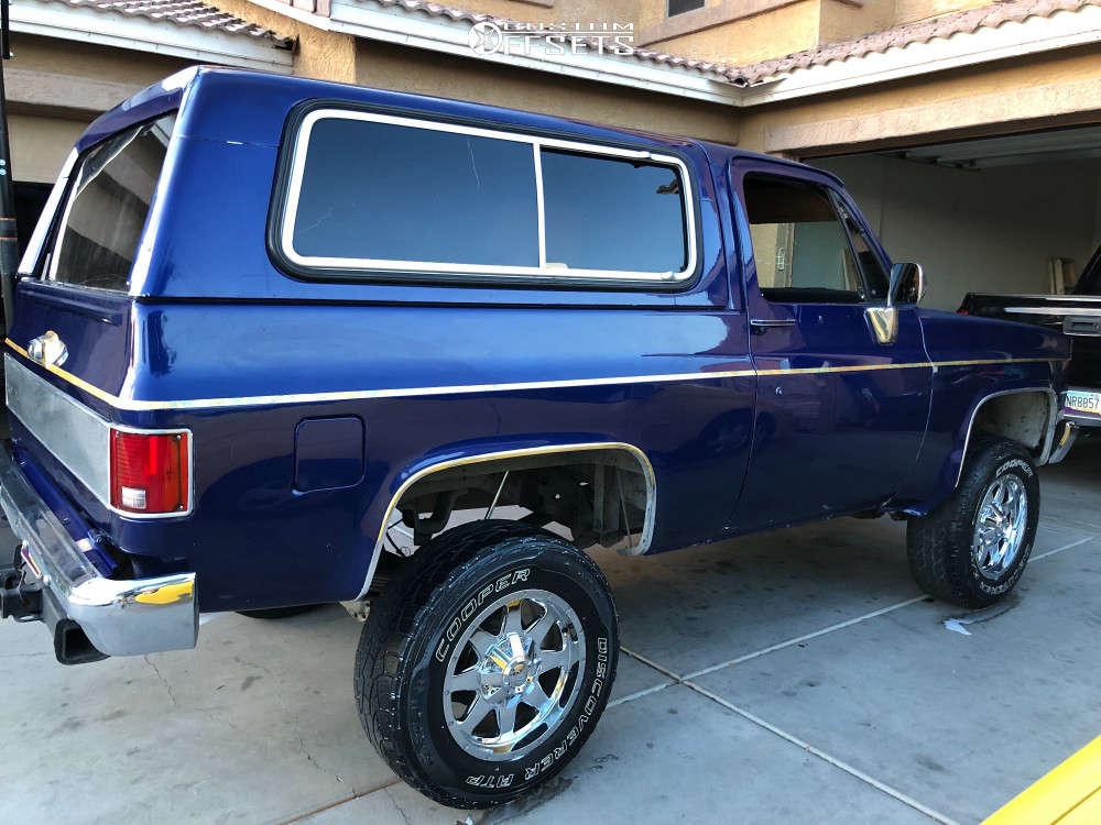 "1989 Chevrolet Blazer Flush on 18x9 -18 offset Mayhem Tank & 265/70 Cooper Discoverer At3 on Suspension Lift 2.5"" - Custom Offsets Gallery"