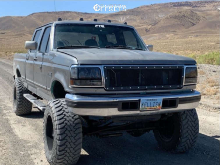 """1996 Ford F-250 Super Aggressive 3""""-5"""" on 20x12 -44 offset Fuel Maverick & 37""""x12.5"""" Toyo Tires Open Country M/T on Suspension Lift 4"""" - Custom Offsets Gallery"""