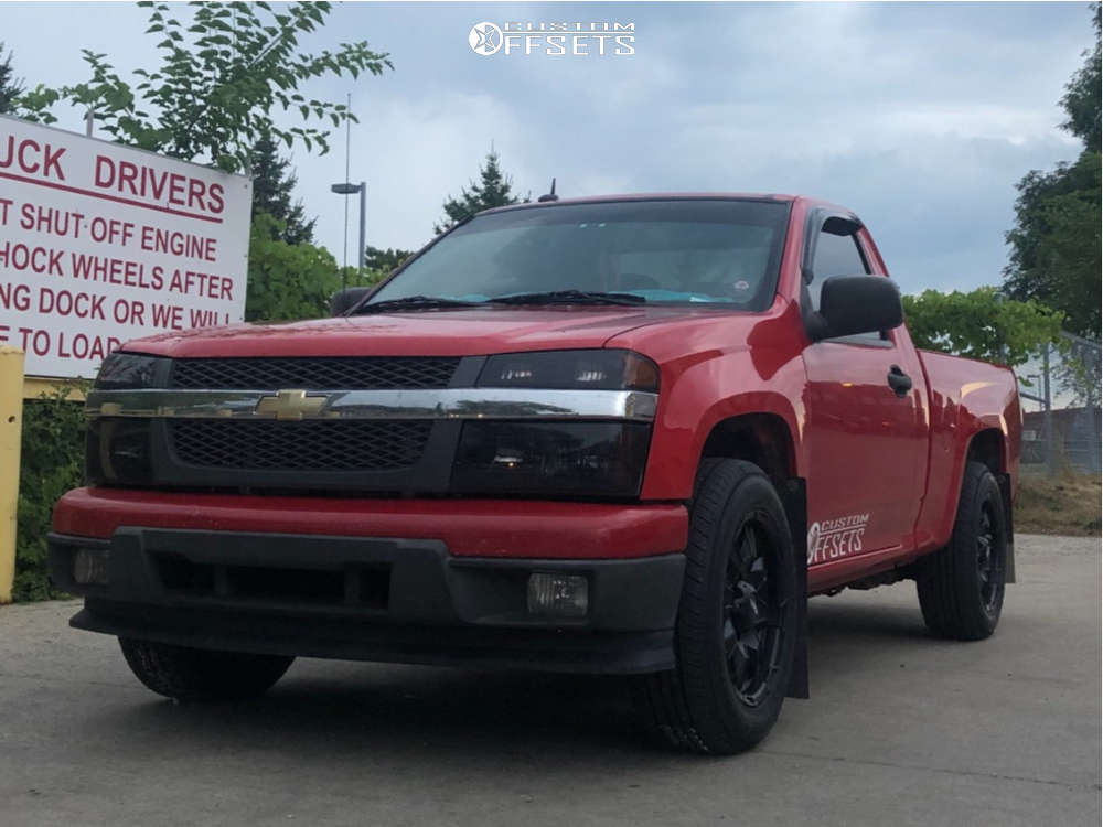 """2010 Chevrolet Colorado Aggressive > 1"""" outside fender on 17x8 10 offset Ultra Phantom & 225/65 Toyo Tires Open Country Q/T on Stock Suspension - Custom Offsets Gallery"""