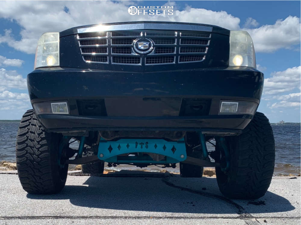 """2007 Cadillac Escalade EXT Super Aggressive 3""""-5"""" on 22x14 -76 offset Specialty Forged Sf001 & 33""""x12.5"""" AMP Terrain Master Mt on Suspension Lift 8"""" - Custom Offsets Gallery"""
