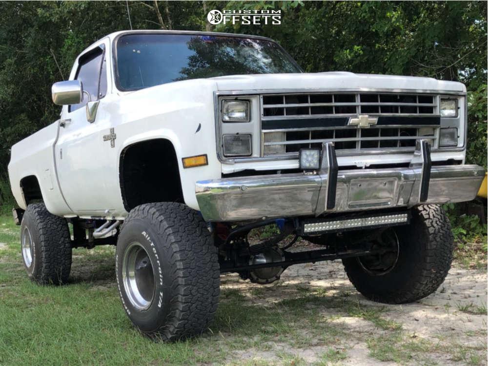 "1986 Chevrolet K10 Pickup Super Aggressive 3""-5"" on 15x15 -88 offset Weld Racing Classic & 35""x12.5"" BFGoodrich All Terrain Ta Ko2 on Suspension Lift 6"" & Body 3"" - Custom Offsets Gallery"