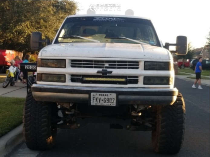 """1997 Chevrolet K1500 Super Aggressive 3""""-5"""" on 15x10 -55 offset Mickey Thompson Side Biter & 37""""x14.5"""" Toyo Tires Open Country M/T on Suspension Lift 7"""" & Body 3"""" - Custom Offsets Gallery"""