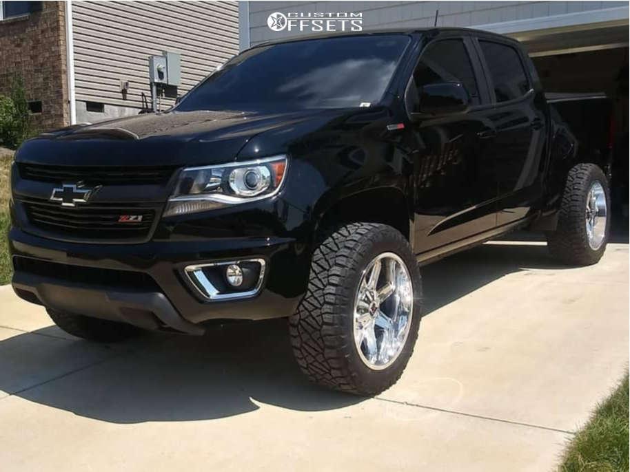 "2016 Chevrolet Colorado Aggressive > 1"" outside fender on 20x10 -24 offset XD Xd823 & 275/55 Nitto Ridge Grappler on Leveling Kit - Custom Offsets Gallery"