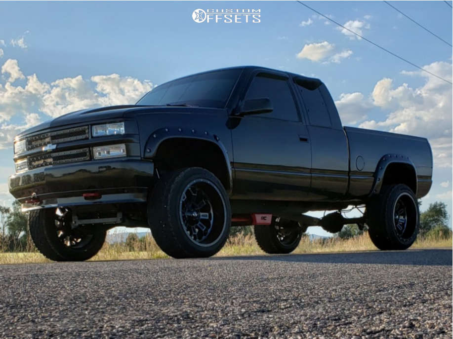 """1994 Chevrolet K1500 Super Aggressive 3""""-5"""" on 22x12 -44 offset Fuel Crush & 33""""x12.5"""" Renegade Renegade At-5 on Suspension Lift 4"""" - Custom Offsets Gallery"""