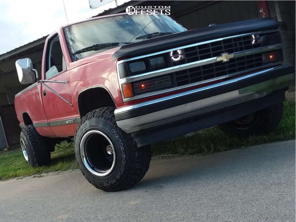 """1988 Chevrolet C2500 Super Aggressive 3""""-5"""" on 15x14 -88 offset Bart Super Trucker and 31""""x10.5"""" Milestar Patagonia Mt on Suspension Lift 4"""" - Custom Offsets Gallery"""