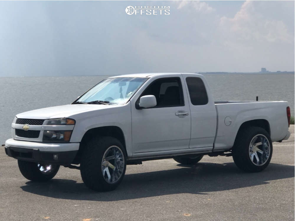 """2012 Chevrolet Colorado Super Aggressive 3""""-5"""" on 20x12 -51 offset ARKON OFF-ROAD Lincoln & 285/50 Nitto Nt420s on Suspension Lift 3"""" - Custom Offsets Gallery"""