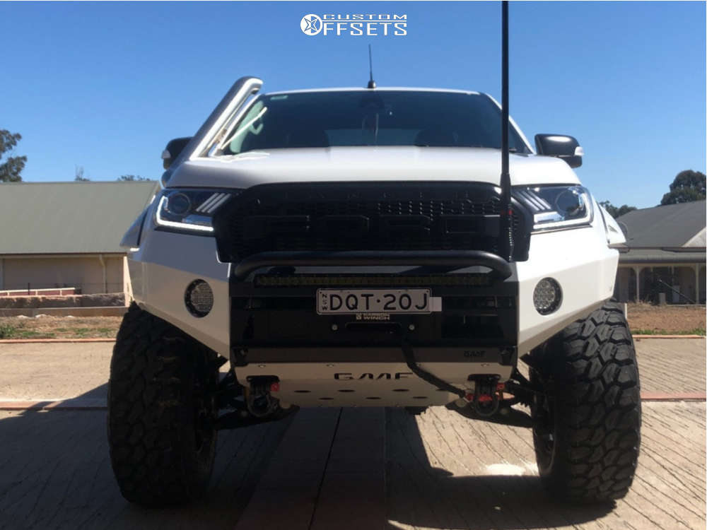 """2016 Ford Ranger Slightly Aggressive on 17x8 -25 offset King D Locker & 35""""x12.5"""" Mud Claw Extreme M/t on Suspension Lift 6"""" & Body 3"""" - Custom Offsets Gallery"""
