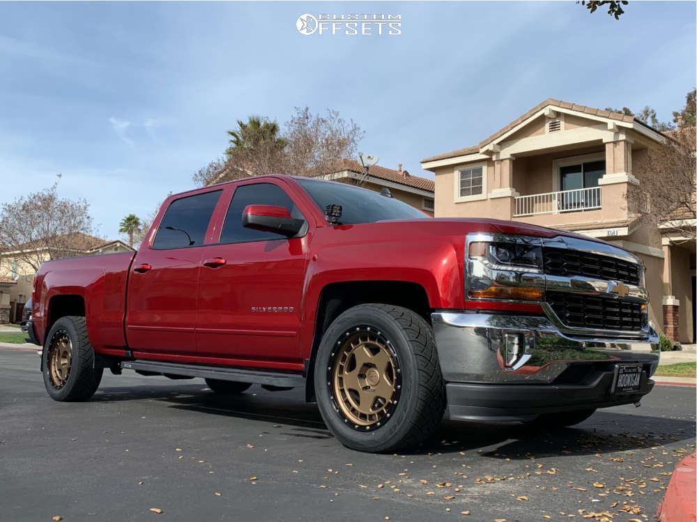 2018 Chevrolet Silverado 1500 Slightly Aggressive on 20x9 -12 offset Fifteen52 Offroad Turbomac Hd & 285/50 Nitto Nt420s on Stock Suspension - Custom Offsets Gallery
