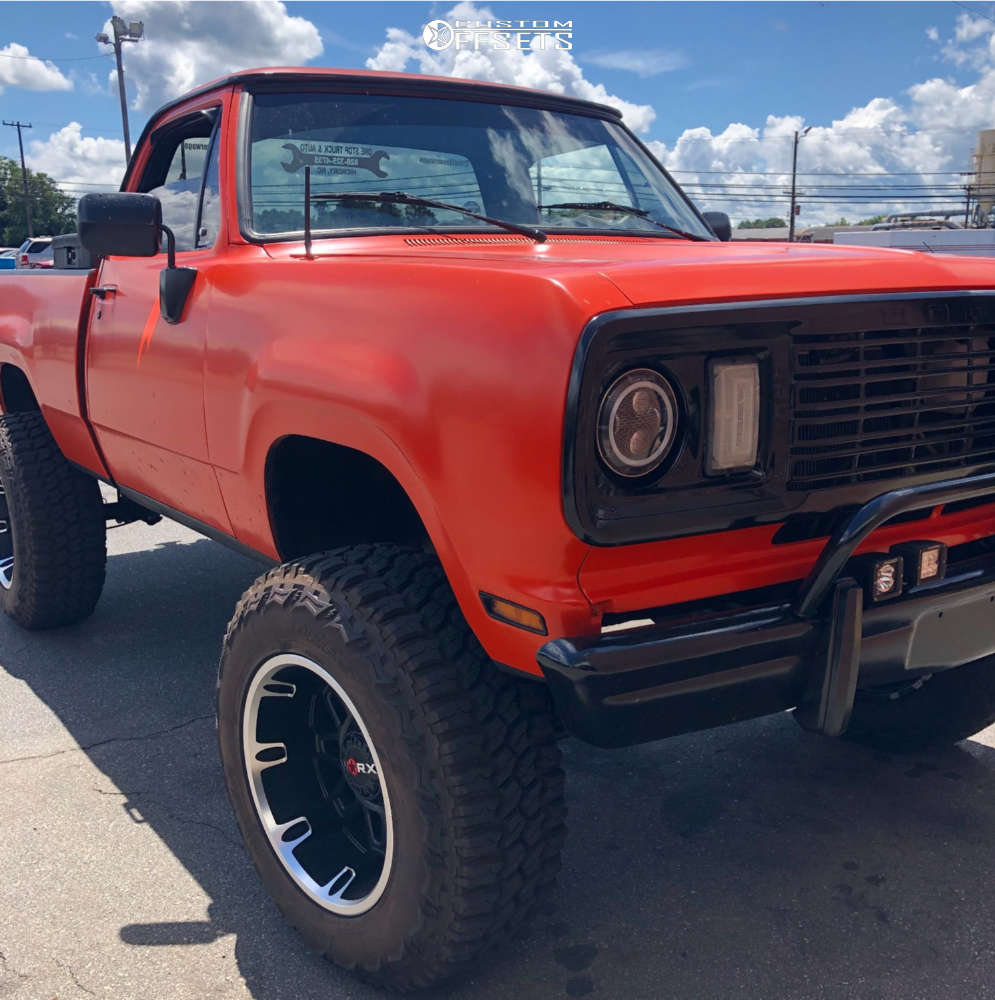 """1978 Dodge W200 Super Aggressive 3""""-5"""" on 20x12 -44 offset Worx Conquest and 37""""x12.5"""" Deestone Mud Clawer on Suspension Lift 7"""" - Custom Offsets Gallery"""
