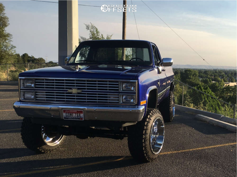 "1984 Chevrolet K10 Flush on 22x14 -76 offset Xd Diesel & 35""x12.5"" Atturo Trail Blade Mt on Suspension Lift 6"" - Custom Offsets Gallery"