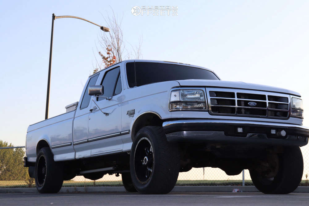"""1996 Ford F-250 Slightly Aggressive on 20x10 -19 offset Gear Off-Road Challenger & 305/50 Nitto Nt420s on Level 2"""" Drop Rear - Custom Offsets Gallery"""