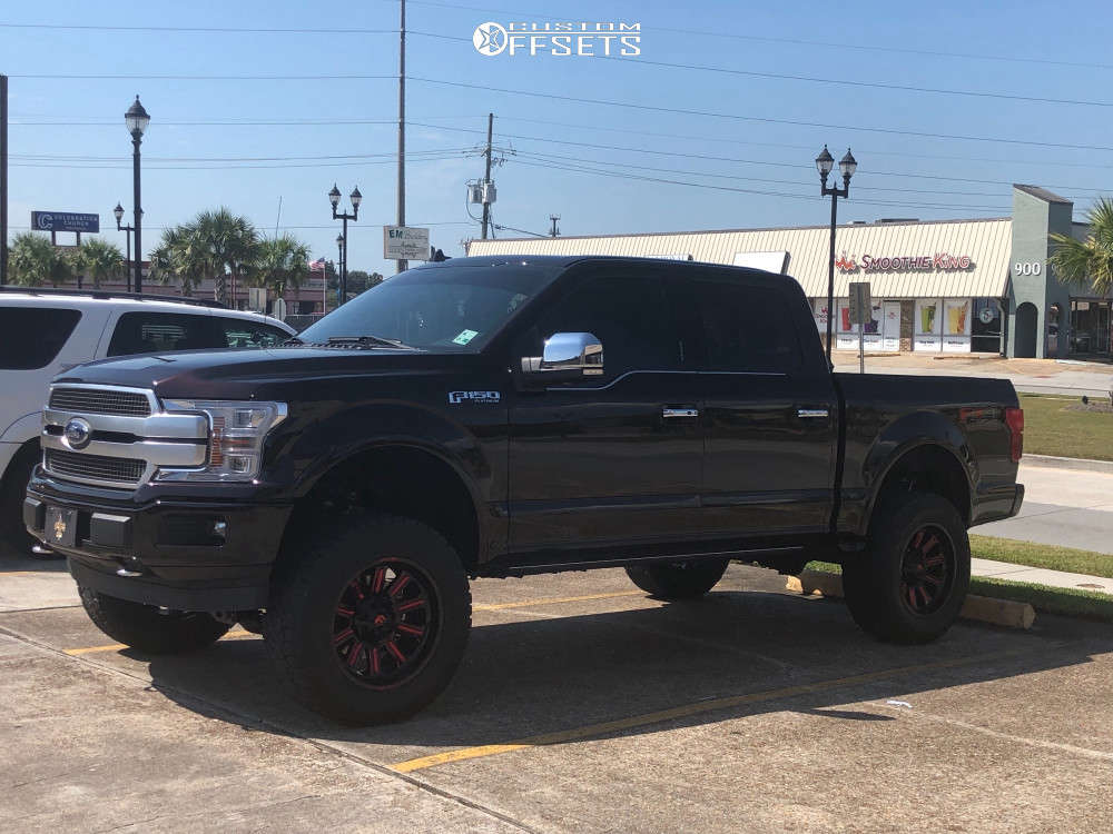 """2019 Ford F-150 Aggressive > 1"""" outside fender on 20x10 -18 offset Fuel Hardline and 35""""x12.5"""" Nitto Ridge Grappler on Suspension Lift 6"""" - Custom Offsets Gallery"""