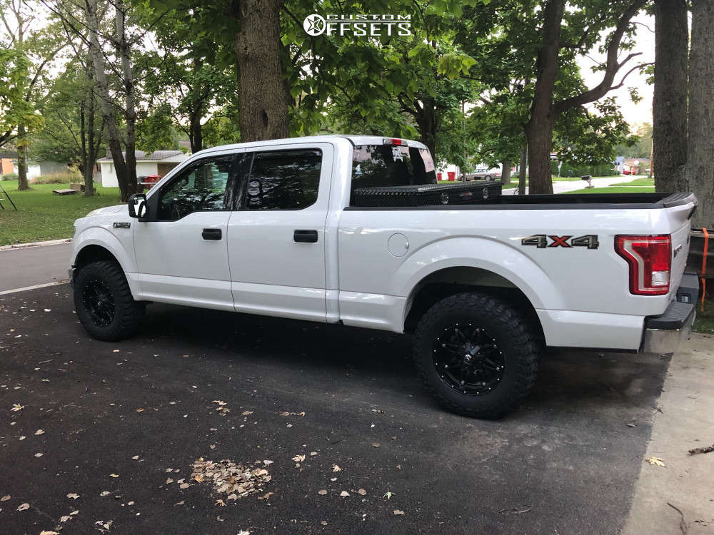 2016 Ford F-150 Slightly Aggressive on 18x9 1 offset Fuel Hostage D531 and 285/65 Cooper Discoverer Stt Pro on Leveling Kit - Custom Offsets Gallery